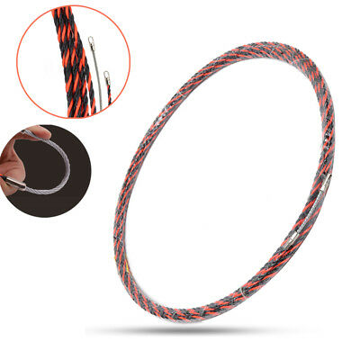 10M 6.5mm Electrical Conduit Snake Cable Rodder Fish Tape Wire Guide Push Puller