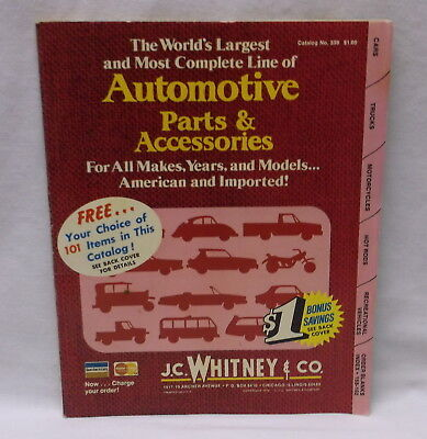 1975 Jc Whitney J.c. Whitney Automotive Parts And Accessories Catalog No 339