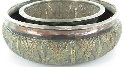 EARLY 1900s MALAYSIAN SIGNED SILVER POSY BOWL.