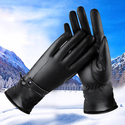 Electric Heated Gloves Motorbike Motorcycle Leather Gloves With Li-ion Battery