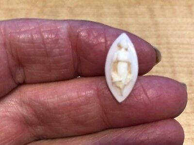 Antique HAND Carved Conch Shell Cameo Full Figure