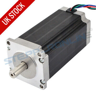 Nema 23 Stepper Motor 3Nm 4.2A 10mm Shaft 113mm Length 4 Wires for CNC Cutting