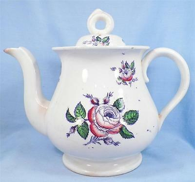 Antique Briar Rose Teapot Tea Pot Semi Porcelain As Is Condition Nice Display