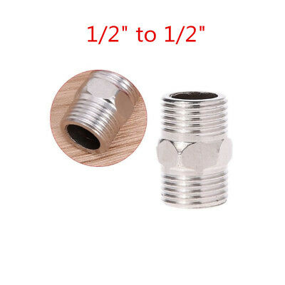 """whitworth 1/2""""x1/2"""" Male Hex Nipple Stainless Steel Threaded Pipe Fitting 32mm"""