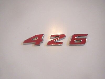 DODGE PLYMOUTH 5.6 5.6L 340 ENGINE ID FENDER HOOD SCOOP TRUNK EMBLEMS RED