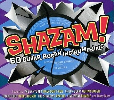Shazam! 50 Guitar Bustin' Instrumentals 2-CD NEW SEALED Champs/Fireballs/Virtues