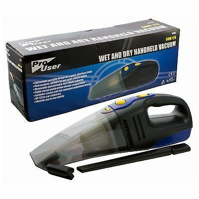 Pro User 60W 12V Wet & Dry Handheld Vacuum With In Car Connector