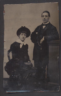 CDV3103 Victorian Tintype: Couple, Unsigned
