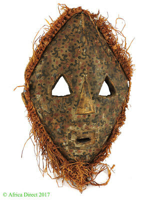 Pygmy Mask White Spotted Face Congo Africa