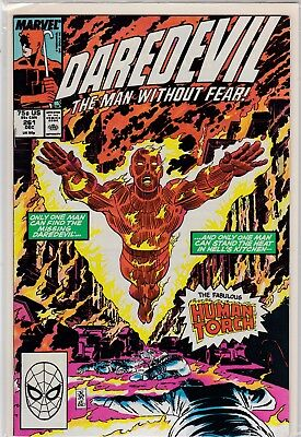 Marvel Comics Daredevil #261 (Guest The Human Torch)  Mint Never Been Read