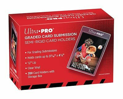 1 Box 200 Ultra Pro Large Size Graded Submission Tall Semi Rigid Card Holders