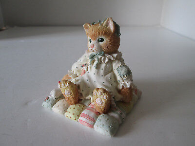 1992 Enesco Calico Kittens Figurine You'll Always Be Close to My Heart Cat 2149