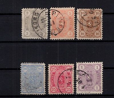 P90210/ Finlande Finland / Y&t # 13 / 18 Used Perf 12 ½ Full Set 119 €