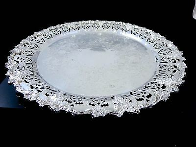 Quality Vintage CANADIAN BENEDICT-PROCTOR Silverplate PLATTER TRAY Grape & Vine