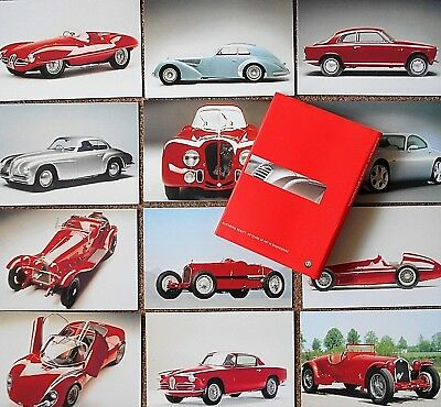 Alfa Romeo Postcard Set 12 Different Disco Volante 159 Giulietta 2900B Tipo 33