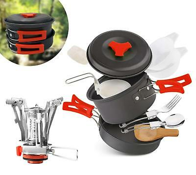 AnimaMiracle Camping Cookware Mess Kit & Small Backpacking Stove Ultralight