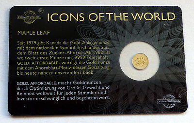 Gold Affordable - Icons of the World - Maple Leaf 2015