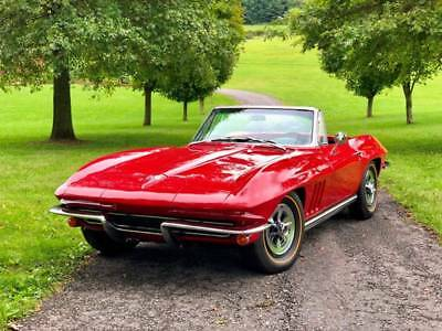 1965 Chevrolet Corvette Factory A/C Automatic 1965 Corvette Convertible *Red/Black*RAREFactory A/C*Automatic*GreatDriver*