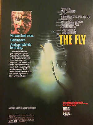 The Fly, Jeff Goldblum, Full Page Vintage Promotional Ad