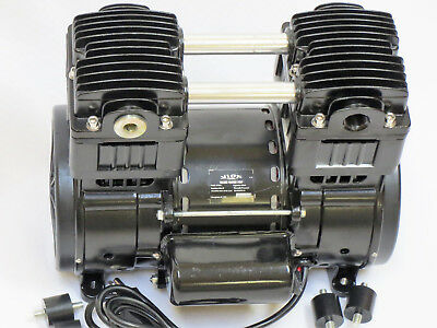OIL-LESS VACUUM PUMP:Twin Piston 12CFM Push/Pull Compressor Medical Science Lab