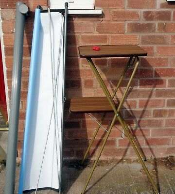 VINTAGE RETRO 1970s FILM PROJECTOR STAND: FULLY ADJUSTABLE: PLANT POT STAND