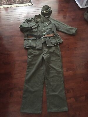 WW2 German WH Uniform Set, Tunic, Trousers, Undershirt, Hat, And Belt