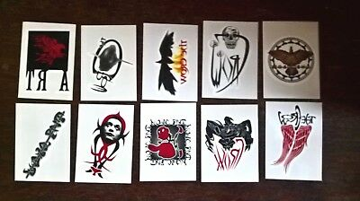 The Crow City of Angels: set of 10 Temporary Tattoos chase insert trading cards