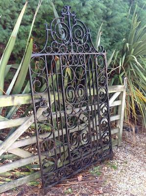 Large Antique Victorian Cast Iron Gate 6.5ft VOrnate Grand Heavy 19thC. Salvaged