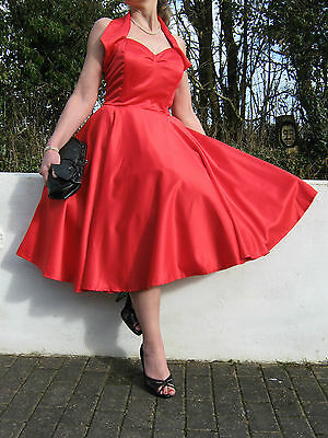 STUNNING PIN UP 40/50s STYLE FULL CIRCLE SWING/JIVE DRESS 16 OR 18 REDUCED PRICE