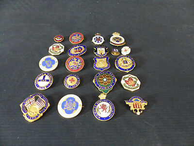Antique Canada Bowling Club Pin Lot Of 21