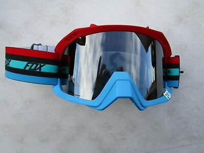 FOX motocross goggles AIR DEFENCE SECA blue/red w/tint lens 18429-037