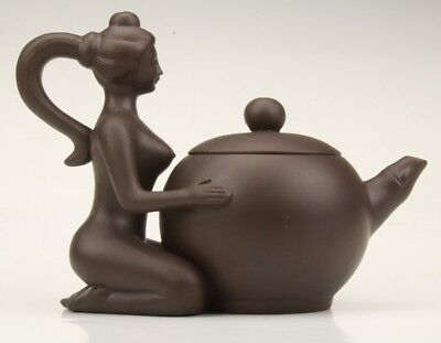 Purple Sands  Hand-Carved Beauty Teapot Decoration Home Collection