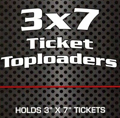 25 BCW 3X7 Top Load Holders Currency Ticket Clear Rigid Plastic Toploaders