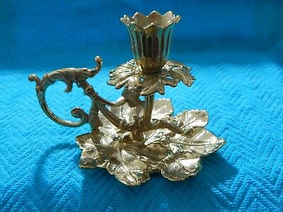 Vintage Solid Brass Virginia Metalcrafters 16-25 Grape Cluster Candle Holder