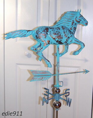 LG RUNNING HORSE 3D Functional Weathervane AGED COPPER PATINA FINISH Cupola NEW!