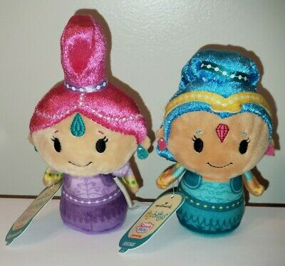 Hallmark Itty Bitty Bittys ~ Shimmer and Shine Set (NICKELODEON) Plush NEW NWT