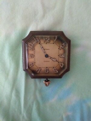antique 1920s automobile clock 6 jewels 2 adjustments running strong