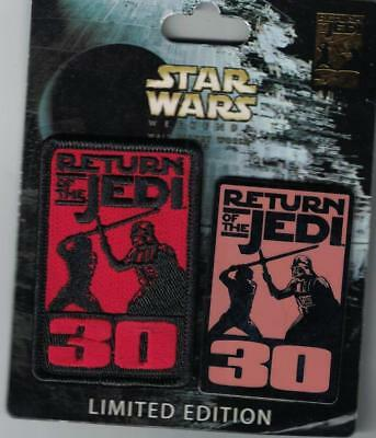 Disney 2013 Star Wars Weekend Return of the Jedi 30 Pin & Patch Set Le 2000 New