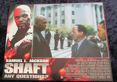 Shaft lobby card # 3 - Samuel L. Jackson - 11 x 14 inches