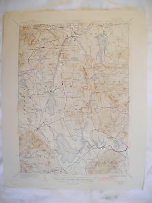 1945 Ossipee Lake, NH New Hampshire USGS Topographic Topo Map 2