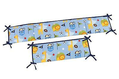 Little Bedding By NoJo Team # 1 Traditional Padded Baby Crib Bumper