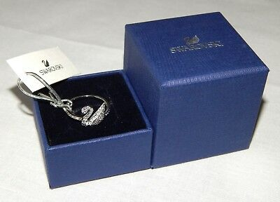 Authentic Swarovski Crystal Iconic Swan Ring 5215040 - Size 7 US EUR 55 NEW
