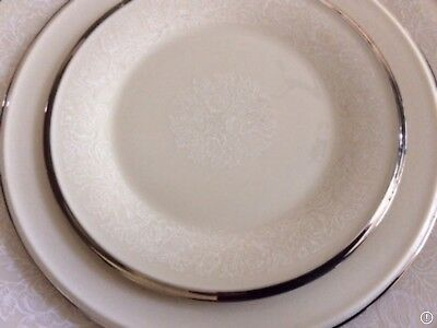 "Lenox Moonspun China Bread and Butter Plate(s) 6 3/8""  White on Ivory"