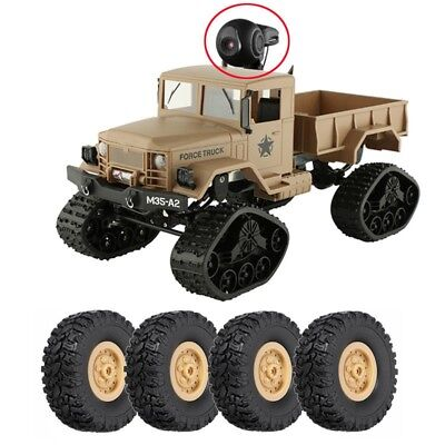 RC Crawler Military Car Drive Off Road Camera Track Truck + Replace Wheel Newest
