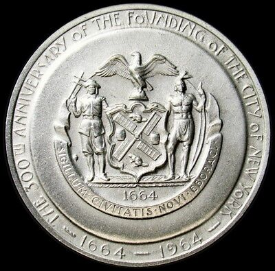 1964-S New York World's Fair/300 Years of New York Medal - Choice BU - 39mm
