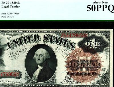 Fr. 30 $1 1880 Legal Tender PCGS About New 50PPQ..** WEEKLY AUCTIONS **