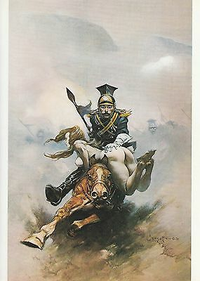 "1978 Full Color Plate ""Flashman On The Charge"" by Frank Frazetta Fantastic GGA"