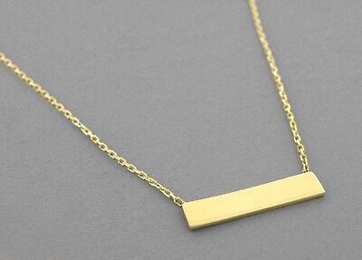 """NEW 14K YELLOW GOLD LADIES FANCY NECKLACE 16"""" or 18"""" ID BAR"""