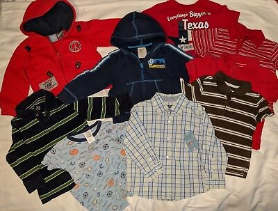 BABY BOY TODDLER CLOTHES MIXED 10pc OUTFIT  LOT  3T  hoodie jacket with zip