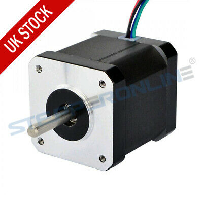 0.9deg Nema 17 Stepper Motor 46Ncm 2A 4 Wires 42x42x48mm CNC 3D Printer Extruder